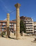 Roman Forum i moderna Tarragona, Spanien Royaltyfri Bild