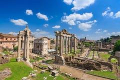 Roman Forum i Rome arkivbilder