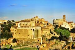 Roman Forum i Rome, Italien Arkivbilder
