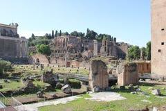 Roman Forum igualmente conhecido como o romano de Foro imagem de stock royalty free