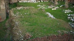 Roman Forum il centro rappresenta il distretto delle tempie, delle basiliche e degli spazi pubblici vibranti a Roma, Italia video d archivio