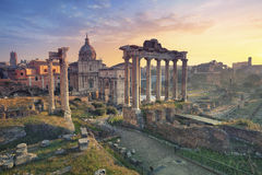Roman Forum. Image of Roman Forum in Rome, Italy during sunrise royalty free stock photos