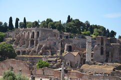 Roman Forum, Italy. Ancient ruins of the Forum in Rome, Italy Royalty Free Stock Photo