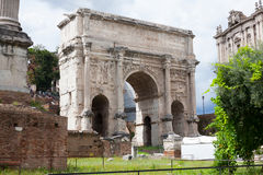 Roman Forum. The Roman Forum (Latin: Forum Romanum).One of the most famous tourist attractions Royalty Free Stock Photos