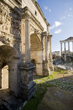 Roman Forum Magnificence. A stroll on the Roman Forum on a sunny day Royalty Free Stock Images