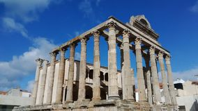 The Roman forum at Merida, Spain. Travel ancient building architecture Stock Photos