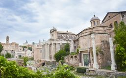 Roman forum museum, Rome, Italy stock images