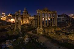 Roman Forum. Night Royalty Free Stock Photos