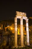 Roman Forum at Night Stock Photography