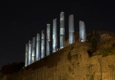 Roman Forum by Night. Rome, Italy Royalty Free Stock Photography