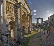 At the Roman Forum. Once upon a time in Rome Royalty Free Stock Images