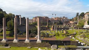 The Roman Forum is one of the central squares in Ancient Rome stock video