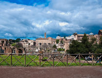 Roman Forum One of the most famous landmarks Stock Images