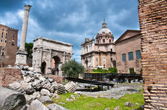 Roman Forum One of the most famous landmarks Stock Photos