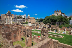 Roman Forum and Palatine Hill Royalty Free Stock Image