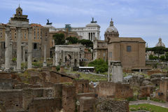 Roman Forum and Palatine Hill Royalty Free Stock Images