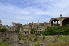 Roman Forum and Palatine Hill Royalty Free Stock Photos