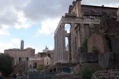 Roman forum. Palatine and roman forum in rome Stock Photos
