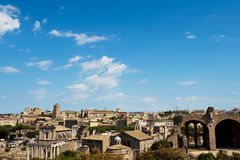 Roman forum panorama Stock Image