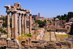 Roman Forum panorama Royalty Free Stock Photos