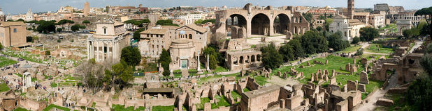 Roman Forum Panorama Royalty Free Stock Photography