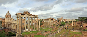 Roman Forum panorama Stock Images