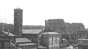 Roman Forum panoramique archivistique à Rome banque de vidéos