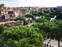 Roman Forum and road to Coliseum Stock Image
