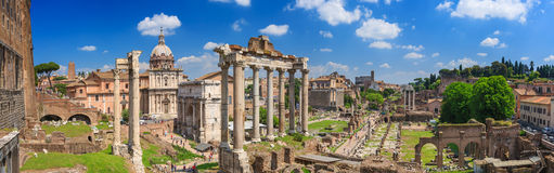 Roman Forum in Rom Lizenzfreies Stockfoto