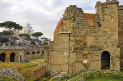 Roman Forum, Rom-` s historische Mitte, Italien Lizenzfreie Stockfotos