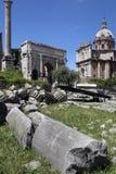 Roman Forum - a Roma - o Itália Fotos de Stock