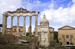 The roman forum in Rome Royalty Free Stock Image
