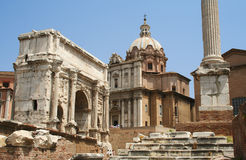 The Roman Forum in Rome. Italy Royalty Free Stock Photo