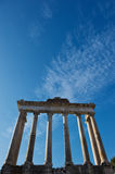 Roman forum in Rome. A great blu sky of a cold winter morning over Rome Stock Images