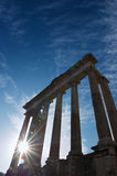 Roman forum in Rome. A great blu sky of a cold winter morning over Rome Stock Photos