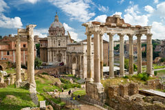 Roman Forum in Rome royalty free stock photos