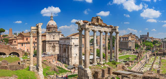 Roman Forum in Rome Stock Afbeelding