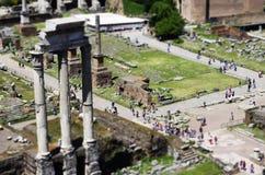 Roman Forum in Rome Royalty-vrije Stock Afbeeldingen