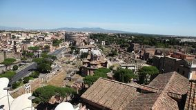 The Roman Forum Rome stock footage