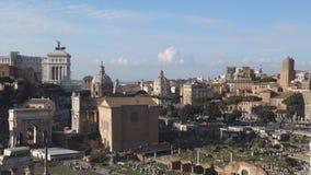 Roman Forum in Rome stock video footage