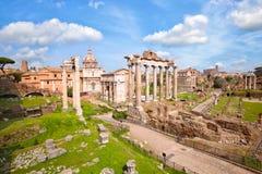 Roman Forum in Rome Stock Photo