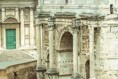The Roman Forum Rome antique architecture ruins Italy Stock Images