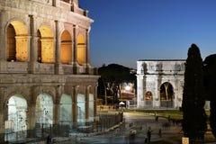 Roman Forum in Rome, Italië royalty-vrije stock foto's