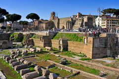 Roman Forum in Rome, Italië Royalty-vrije Stock Foto