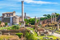 Roman Forum in Rome, Italië Royalty-vrije Stock Foto