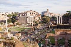 Roman Forum, Rome, Italië Royalty-vrije Stock Afbeelding
