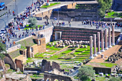 Roman Forum, Rome Italië Royalty-vrije Stock Foto's