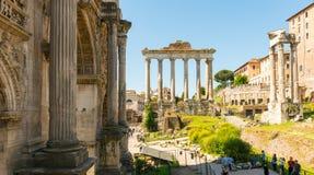 Roman Forum in Rome, Italië Stock Foto's