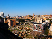 The Roman Forum, Rome, Italy. View from Palatine Hill, photo taken in February Stock Photography