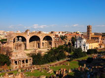 The Roman Forum, Rome, Italy. View from Palatine Hill, photo taken in February Royalty Free Stock Photos